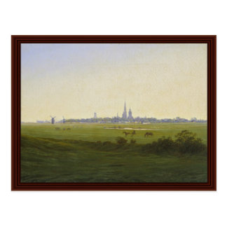 Meadows Near Greifswald By Friedrich Caspar David Postcard