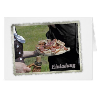 Meal and drinking greeting card