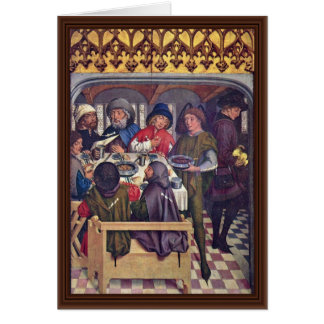 Meal Of The Compostela Pilgrimage Greeting Card