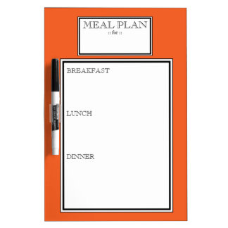 Meal Plan - Orange Day-to-Day Dry-Erase Board
