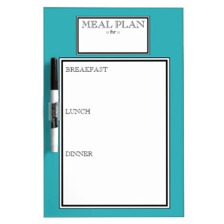 Meal Plan - Turquoise Day-to-Day Dry-Erase Board
