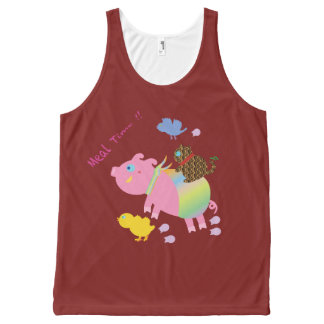 Meal Time!! All-Over-Print Tank Top