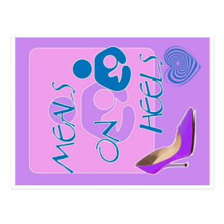 Meals on Heels! Breastfeeding Design Postcard