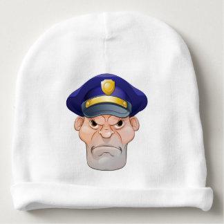 Mean Angry Cartoon Policeman Baby Beanie