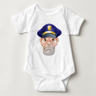 Mean Angry Cartoon Policeman Baby Bodysuit