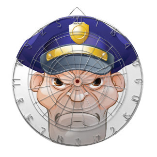 Mean Angry Cartoon Policeman Dartboard