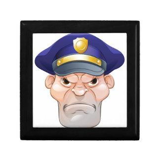 Mean Angry Cartoon Policeman Gift Box