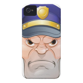 Mean Angry Cartoon Policeman iPhone 4 Case-Mate Cases