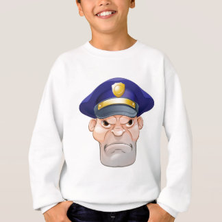 Mean Angry Cartoon Policeman Sweatshirt