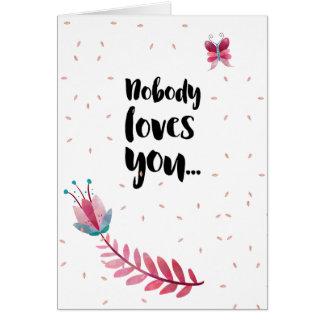 Mean anti Valentine's day card