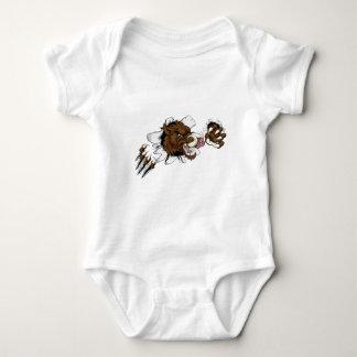 Mean Boar Warthog Razorback Mascot Baby Bodysuit