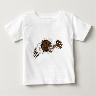 Mean Boar Warthog Razorback Mascot Baby T-Shirt