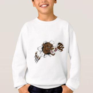 Mean Boar Warthog Razorback Mascot Sweatshirt