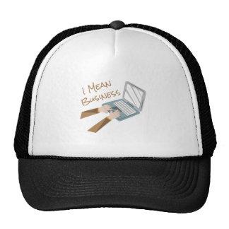 Mean Business Trucker Hat