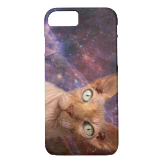 Mean cat protects your phone iPhone 7 case