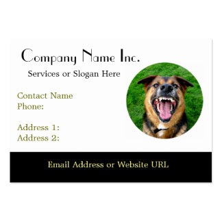 Mean Dog Bares Teeth Business Cards
