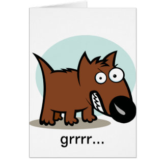 Mean Dog Growling Card