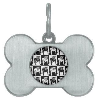 Mean Dog Pattern bulldog pit bull Pet ID Tag