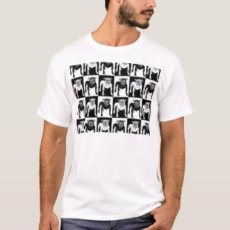 Mean Dog Pattern bulldog pit bull T-Shirt