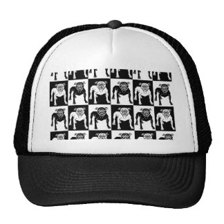 Mean Dog Pattern bulldog pit bull Trucker Hat