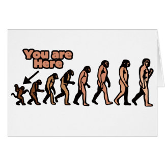 Mean Evolution Parody Greeting Cards