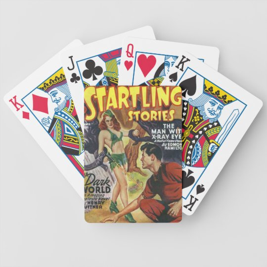 Mean Forest Girl Bicycle Playing Cards