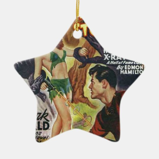 Mean Forest Girl Ceramic Ornament