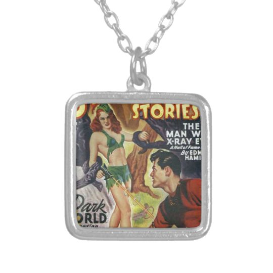Mean Forest Girl Silver Plated Necklace