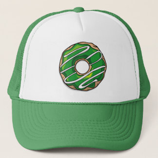 Mean Green Donut With Icing Trucker Hat