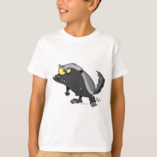mean honey badger cartoon character T-Shirt