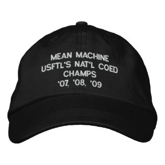 MEAN MACHINE USFTL'S NAT'L COED CHAMPS'07, '08,... EMBROIDERED HAT