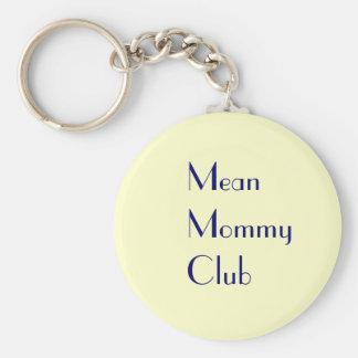 Mean Mommy Club Keychain