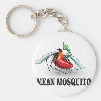 mean mosquito basic round button keychain