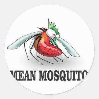 mean mosquito classic round sticker