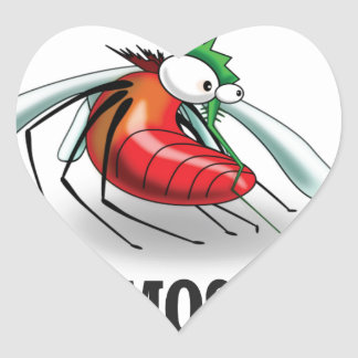 mean mosquito heart sticker