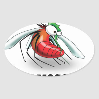 mean mosquito oval sticker