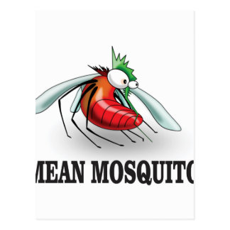 mean mosquito postcard