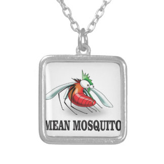 mean mosquito silver plated necklace