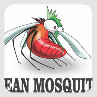 mean mosquito square sticker