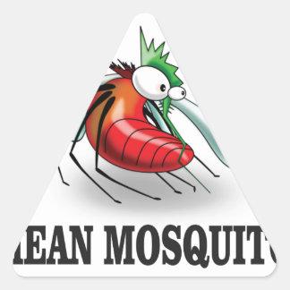 mean mosquito triangle sticker