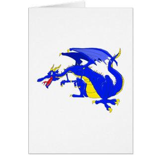 Mean Nasty Dragon Greeting Card