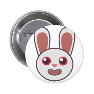 Mean Rabbit 2 Inch Round Button