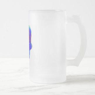 MEAN RAP HAT 16 OZ FROSTED GLASS BEER MUG