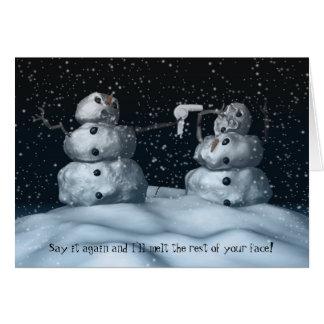 Mean Snowman Card