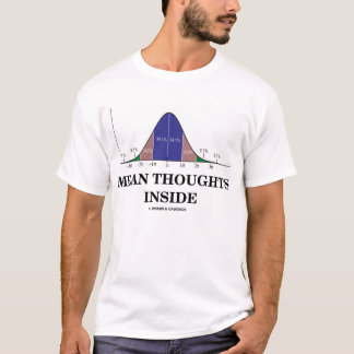 Mean Thoughts Inside (Average Stats Humor) T-Shirt