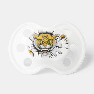 Mean Wildcat Mascot Pacifier