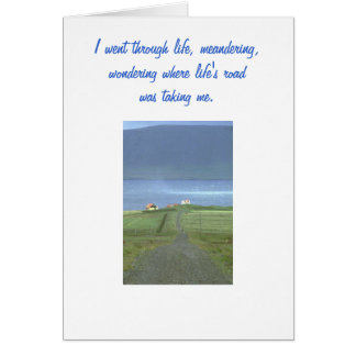 Meandering Card