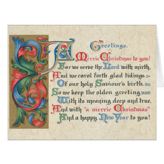 Meaning Christmas Handmade Paper Big Greeting Card