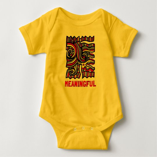 """Meaningful"" Baby Jersey Bodysuit"