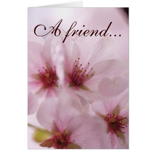 Meaningful Pink Sakura Flower Friendship Card